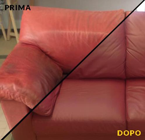 restauro pelle divano