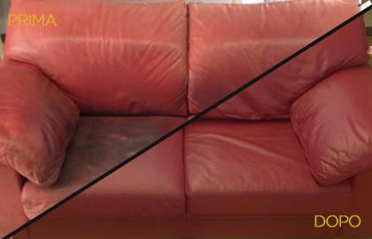restauro divano in pelle