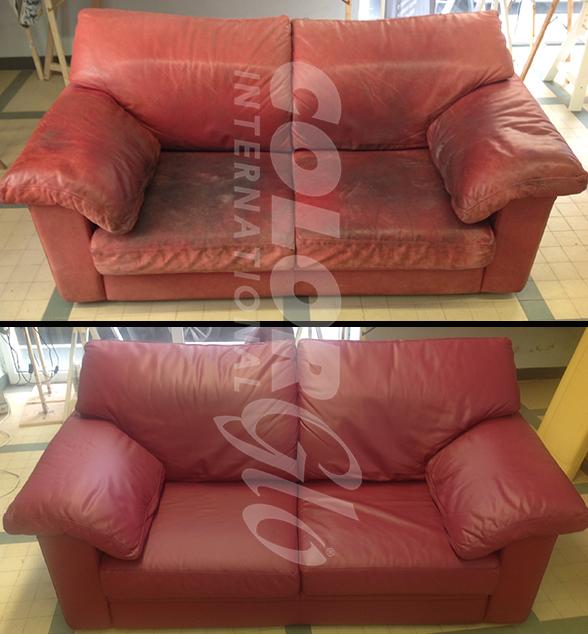 Riparazione divani e poltrone color glo italia for Poltrone finta pelle